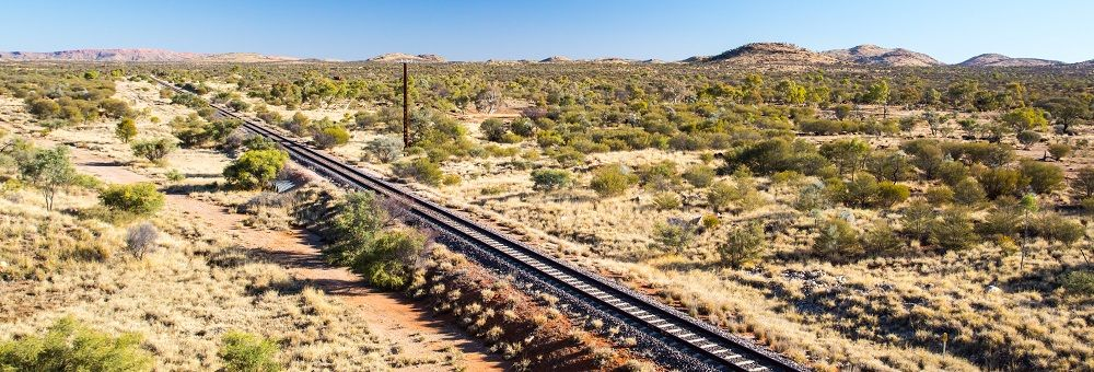 Ghan Railway near Alice Springs